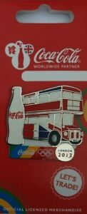 OFFICIAL COCA COLA LONDON 2012 OLYMPIC DOUBLE DECKER BUS PIN BADGE BRAND NEW!