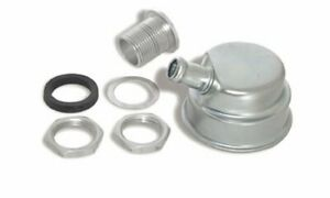 Two 2 Moroso 68785 Valve Cover Breather Bolt on Round Steel Zinc Plated Plain