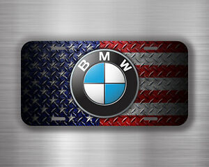 Bmw Usa Flag Vehicle License Plate Front Auto Tag Car Ys124