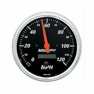 Autometer Designer Black Series Speedometer 0 120 Mph 5 Dia Electrical 1489