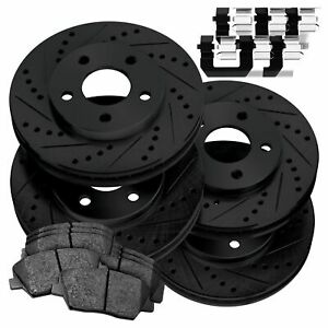 Fit 2014 2016 Acura Mdx Black Full Kit Brake Rotors ceramic Brake Pads