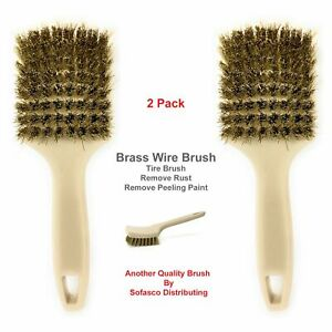 Brass Wire Brush Tire Brush For Car Brass Cleaning Brush For Loose Paint Rust
