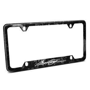 Ford Mustang Script Real Black Forged Carbon Fiber 50 States License Plate Frame