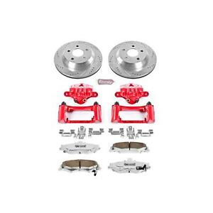 Power Stop Brake Pads Calipers Drilled slotted Rotors Rear Chevy Pontiac Kit