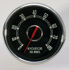 New Vintage Usa Woodward Tachometer Gauge 0 8 000 4 3 8 Dia In dash 3715101