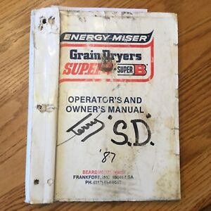 Super B S185v S250v S375v S500v Grain Dryer Operation Maintenance Manual Guide