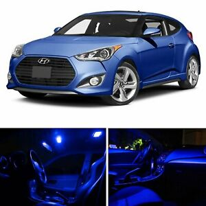 Blue Car Led Light Package Kit For 2012 2016 Hyundai Veloster Yv1w License Bulb