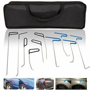 10pcs Dent Repair Rods Body Paintless Tools Kit For Door Dings Hail Dent Removal