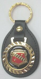 Vintage Black Buick Single Badge Leather Usa Royal Classic Key Ring 1934 196