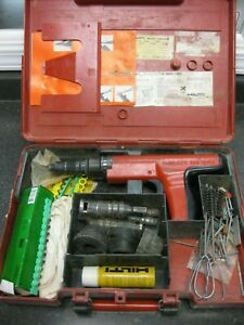 Hilti Dx350 Powder Actuated Fastener Nail Gun Extras W Case