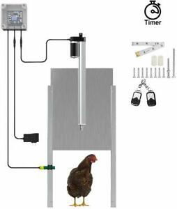 Metal Automatic Chicken Coop Door Opener With Timer complete Kit Ac Powered Us