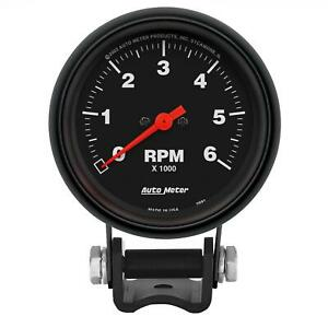 Autometer Performance Series Mini Tachometer 0 6 000 2 5 8 Dia Black Face 2891