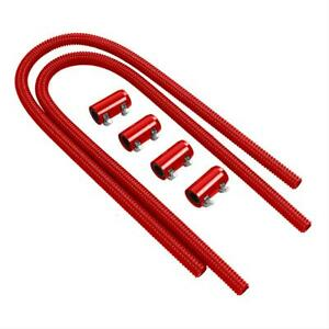 Summit 390144 R Heater Hose Red Stainless Hose Red Ends 3 4 Dia 44 Length