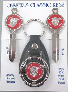 Red Mercury Messenger Cougar Deluxe Classic White Gold Key Set 1967 1968 1969