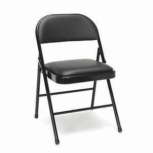 Metal Folding Chair Pack Of 4 Multipurpose Padded Wedding Church Office Chairs