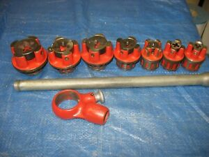 Ridgid Oorb Nc Bolt Die Set With Ratchet And Handle Very Nice Button Head