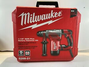 Milwaukee Corded 1 1 8 In Sds plus Rotary Hammer Drill 5268 21 New