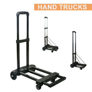 Portable Cart Folding Dolly Collapsible Trolley Luggage Push Hand Truck Shopping