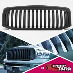 Matte Vertical Replacement Grille Grill For 2006 2009 Dodge Ram 1500 2500 3500