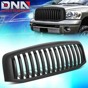 For 2006 2009 Dodge Ram 1500 2500 3500 Matte Vertical Style Grille Grill Frame