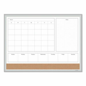 U Brands 4n1 Magnetic Dry Erase Combo Board 24 X 18 White natural