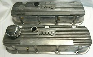 Vintage Vtg Holley Valve Covers Finned Aluminum Big Block Chevy 396 427 454
