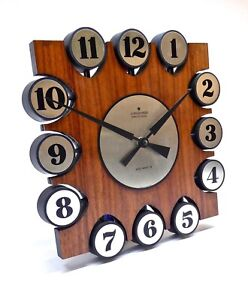 Original Mid Century Teak Wall Clock Junghans 60s Danish Modern Unused In Nos