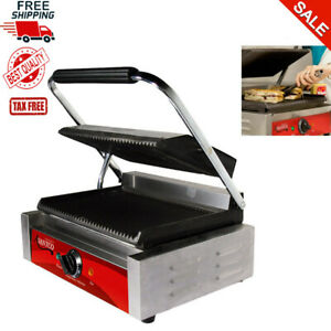 Grooved Top Bottom Commercial Quessadilla Panini Sandwich Press Grill Restaurant