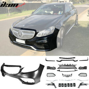 Fits 14 16 Mercedes Benz E class W212 Amg Style Front Bumper With Lip trim vents