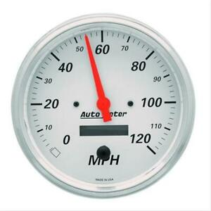 Autometer Arctic White Speedometer 0 120 Mph 5 Dia Electrical 1389