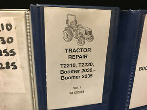 Genuine Ford new Holland Boomer 2030 2035 And T2210 t2220 Dealer Service Manual