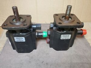 Two Pack 2x Northern Tool 2 Stage Cast Log Splitter Hydraulic Pump 1012 as Is