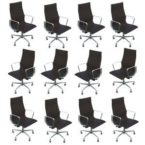 Herman Miller Eames Aluminium Group Executive Chair Leather