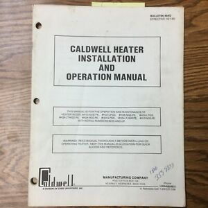 Cladwell Heater Grain Dryer Installation Operation Maintenance Manual Guide Book