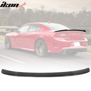 Fits 15 20 Dodge Charger Srt Style Gloss Black Rear Trunk Spoiler Wing Abs