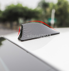 Carbon Fiber Style Roof Shark Fin Antenna Cover Radio Trim For Mazda 3 2019 2020