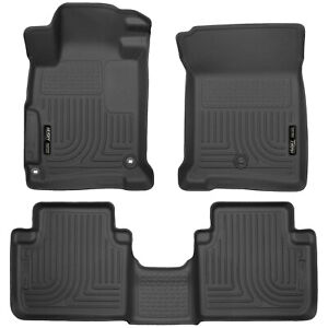 Husky Liners Weatherbeater Floor Mats 1st 2nd Row For 2013 2017 Honda Accord