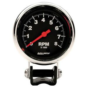 Autometer Performance Series Mini Tachometer 0 8 000 2 5 8 Dia Black Face 2893