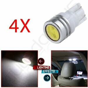 4x Xenon White 1w T10 W5w 194 168 Led 12v Car Side Wedge Tail Light Lamp Bulb
