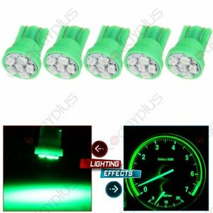 5x T10 194 168 2825 5 5050 Smd Led Green Super Map Light Bulbs For Volkswagen