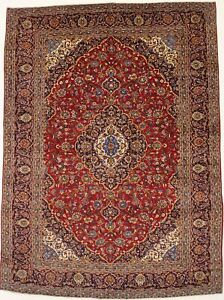 Large Traditional Rug Semi Antique Handmade 10x13 Living Dining Oriental Carpet