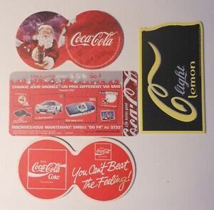 4 Vintage International Coca Cola Coasters