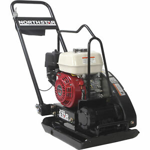 Northstar Close quarters Plate Compactor with 5 5 Hp Honda Gx160 Engine