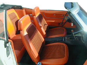 1969 Camaro Houndstooth Front Rear Seat Upholstery Covers Pui New