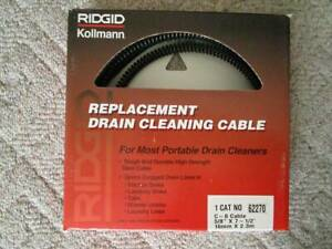 Ridgid 62270 5 8 Drain Cleaning Cables One Lot Of 9 Sectional Cables