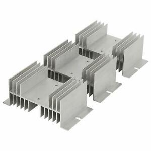 3 Pcs Aluminum Alloy Heat Sink 20a 100a For Solid State Relay Ssr 125x50x70mm