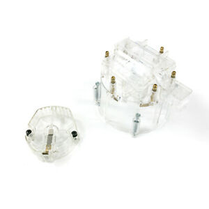 Hei Distributor Standard Cap And Rotor Kit 6 Cylinder Male Clear