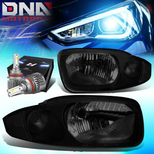 For 2003 2005 Chevy Cavalier Oe Style Headlights W Led Kit Slim Style Smoked