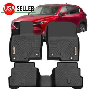 For 2017 2018 2019 2020 Mazda Cx 5 All Weather Floor Mats Liners Full Set Black