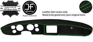 Green Stitch Foam Style Dash Dashboard Real Leather Cover Fits Mg Mgb